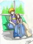 "Ichihime, I call it ""The Trip"" Ichigo and Orihime fell asleep during a train ride on their out of town trip."