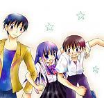 Akasaka, Rika, and Keiichi. Looks like she prefers Keiichi. Hehe.