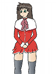Yuuko, aka, Yuuichi from Kanon gender-bended.  Not happy with the legs, but a decent first try, I think.