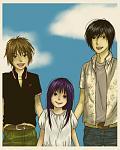 Rika with Keiichi and Akasaka...
