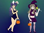 Sayuri and Mai on Halloween