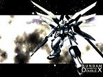 Gundam DoubleX ready to assault the Frost brother.