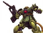 Zaku II in action.Full credit to KINA for this awesome pics.