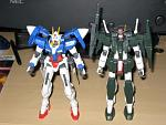 Cherudim Gundam and 00 Gundam 2