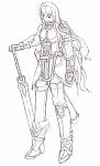 Rather annoyed at how small it is on the forums, but this is Nia. One of my character sketches >>
