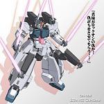 Seravee Gundam show his beam saber.