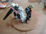 Seravee Gundam and Seraphim Gundam 1