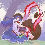 Series: Touhou  Pairing: Tenshi X Iku  Full: http://i182.photobucket.com/albums/x97/yang-shu/2nd/aav02.jpg