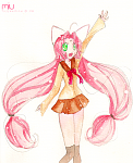 Testing out new watercolours! o3o Miu from DearS. Visit: http://toffeedraw.deviantart.com/