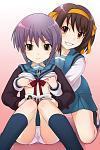Yuki and Haruhi Ecchi