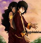 Zuko and Katara from Avatar the last airbender