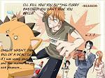 Kons about to be killed by Ichigo! Ha ha ha ha ha !