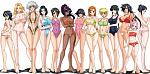Swimsuits of the cast of Bleach. All of them are basically centuries-old ghosts except Hime-chan.