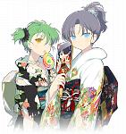 Hikage, Mirai, and Yumi (New Year 2013)