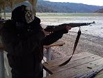I rented a Mauser and brought it with me to a shooting range near the Angeles Crest forest.
